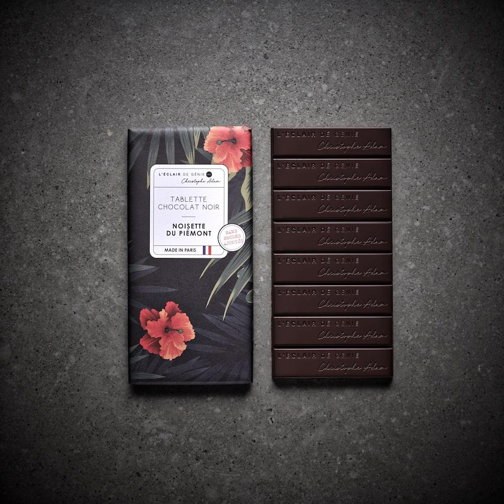 Tablette Chocolat Noir Noisette Sans Sucre Ajouté