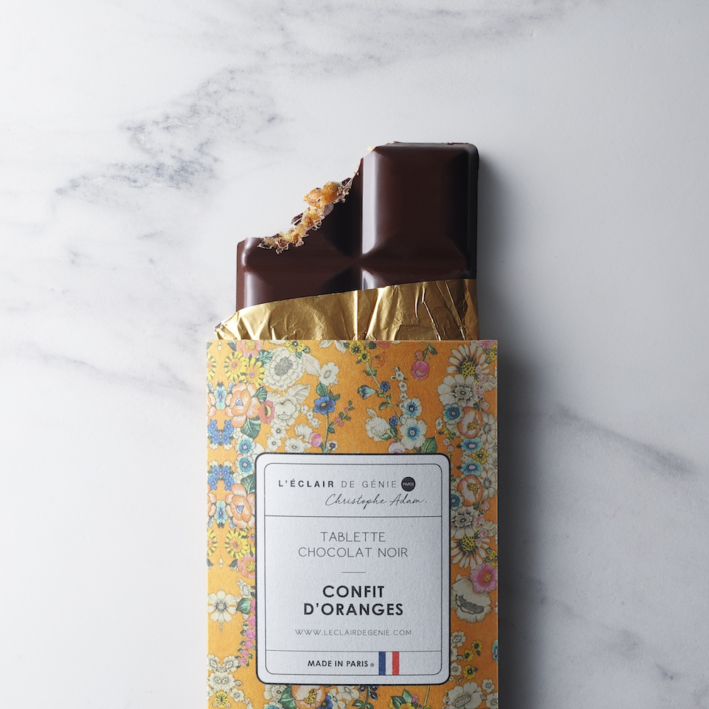Tablette Chocolat Noir & Confît d'Oranges