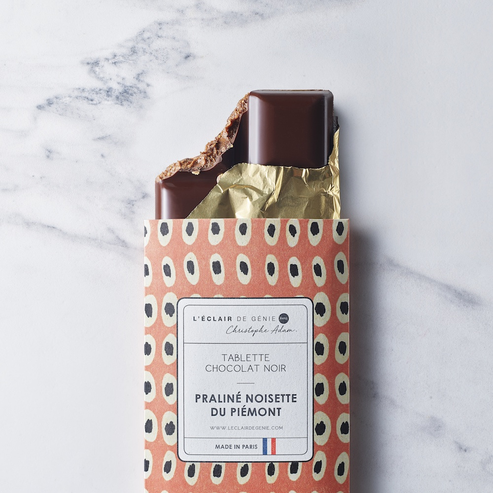 Tablette Chocolat Noir & Praliné Noisette du Piémont