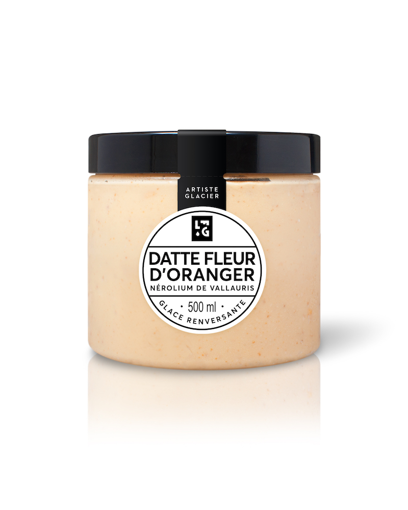 Glace Datte Fleur d'Oranger (500 mL)