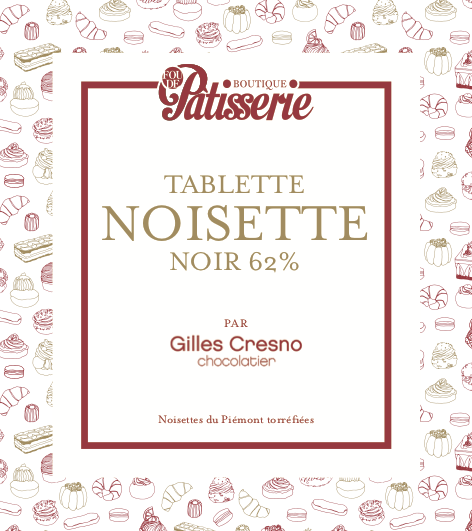 Tablette NOISETTE NOIR 62%