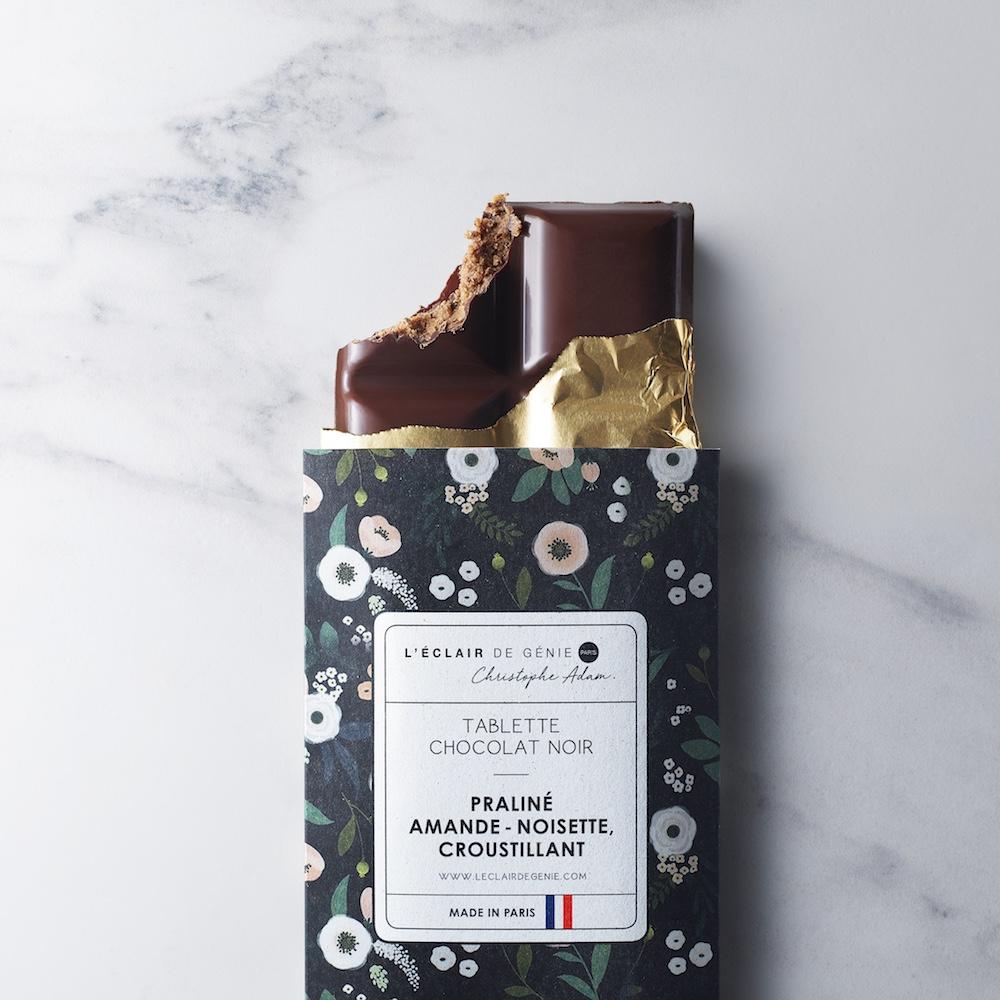 Tablette Chocolat Noir & Praliné Amande-Noisette Croustillant