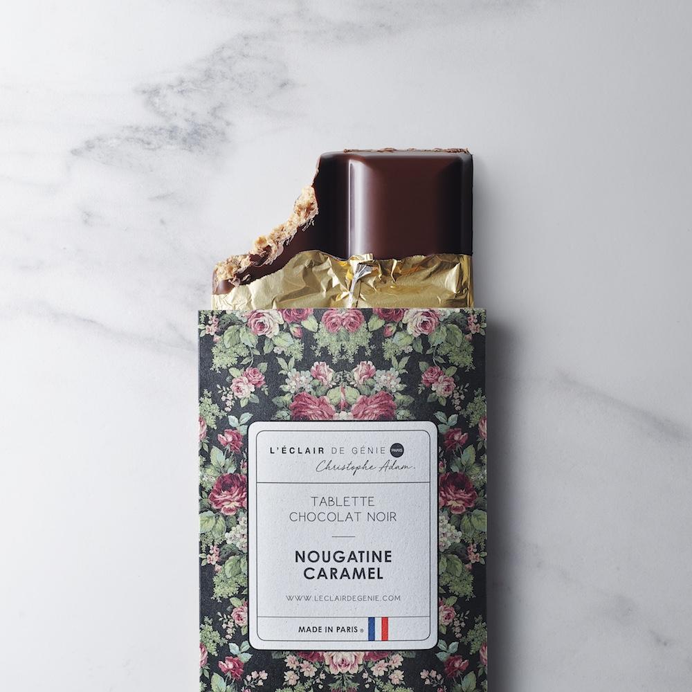 Tablette Chocolat Noir & Nougatine Caramel