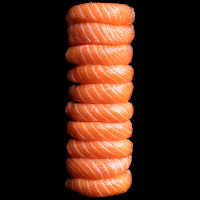 10 Sushi saumon<br />Label rouge.
