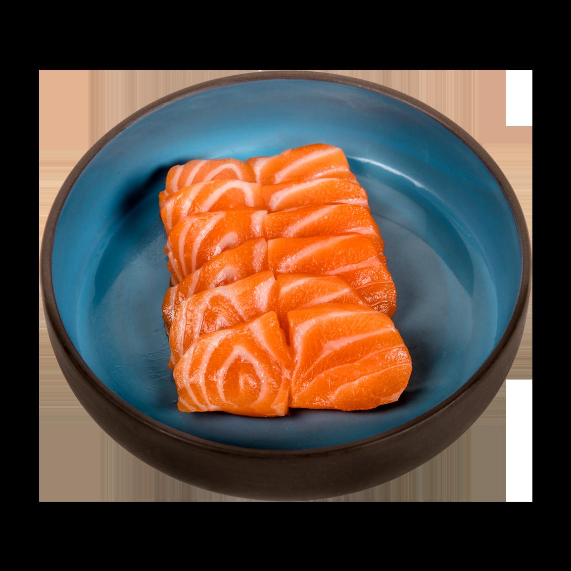 6 pièces de sashimi saumon label rouge.<br />Servi avec un bol de riz vinaigré.