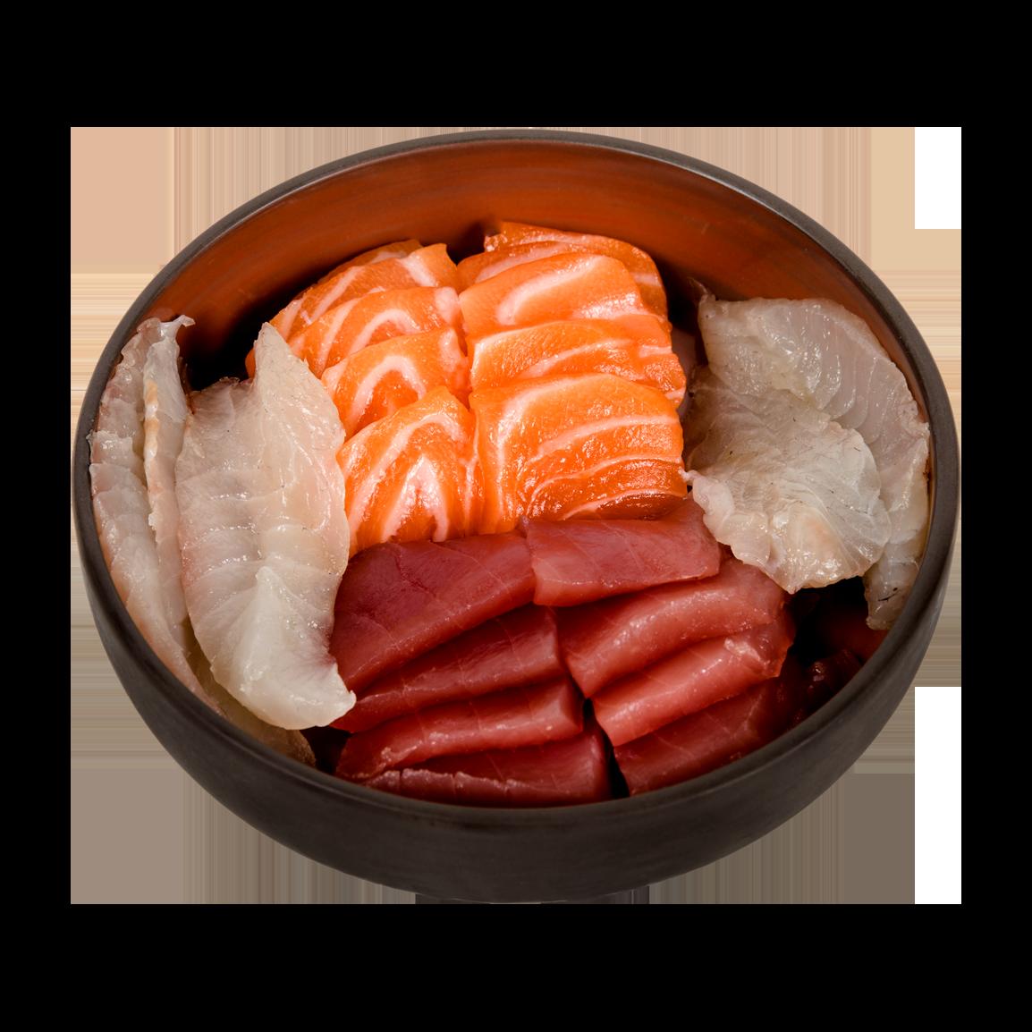 15 pièces<br />5 thon, 5 saumon label rouge, 5 dorade Servi avec un bol de riz vinaigré.